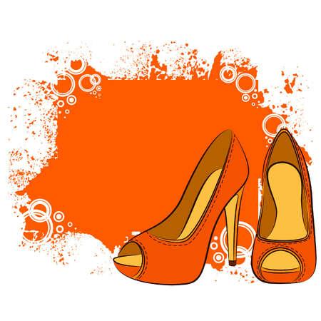 vector precioso par de zapatos con tacón alto