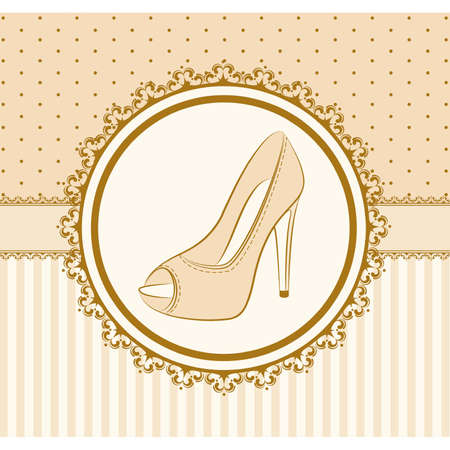 vector beautiful pair of shoes with high heel Vector