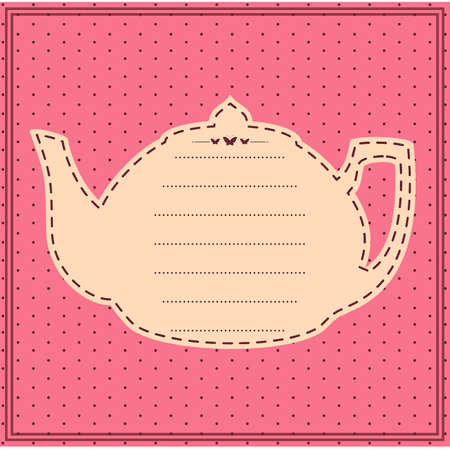 Vintage sweet tea pot.  Vector