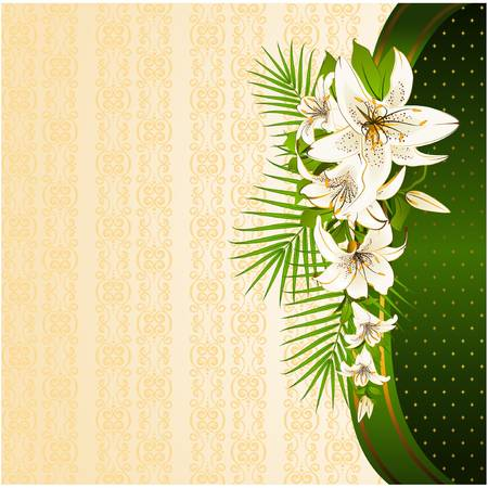 Vintage background with flowers. Vector