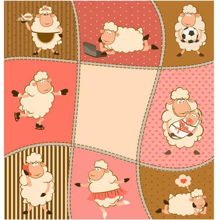 mouton cartoon: illustration de bande dessin�e de moutons