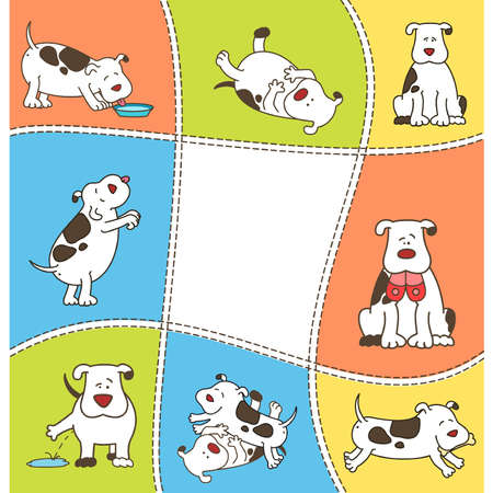 Set of cartoon dogs Vector