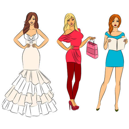 Vector Illustration of beautiful women Vector