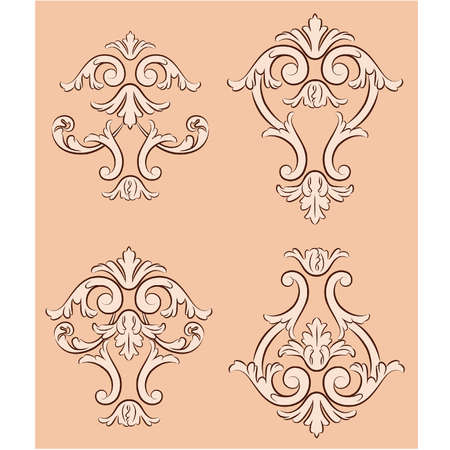 Beautiful vintage background. Vector Vector