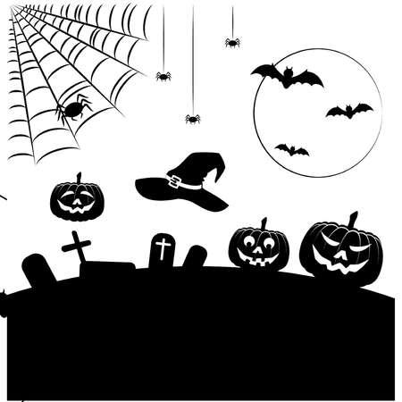 Vector set in Halloween style