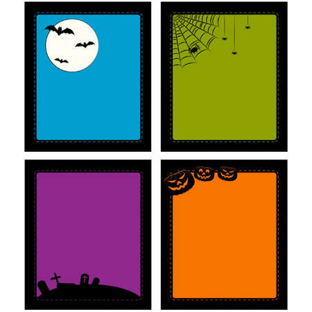 Vector backgrounds in Halloween style Vector
