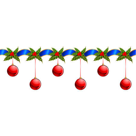 christmas garland: Beautiful Christmas garland. Vector