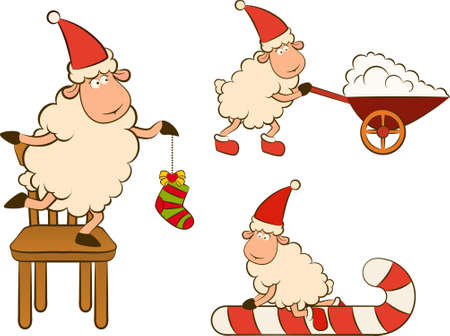 Christmas funny sheep photo
