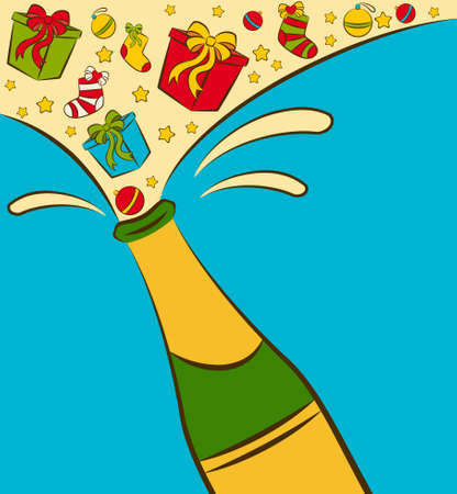 champagne bottles with gifts Stock Photo - 11469152