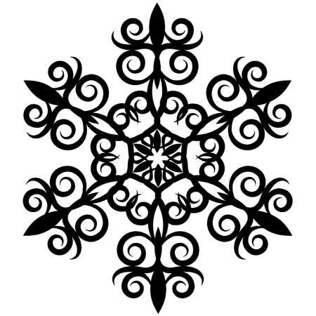 abstract element voor een ontwerp, decoratief Snowflake. Vector Illustratie