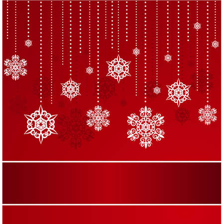 Beautiful Christmas background with snowflakes. Vector