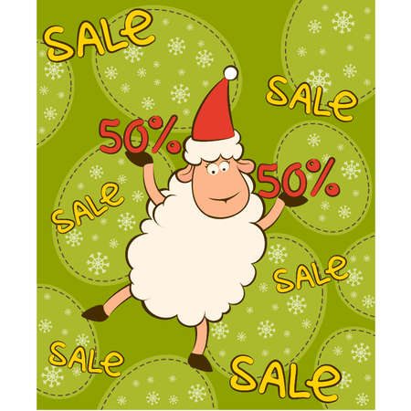 Cartoon funny sheep and sales