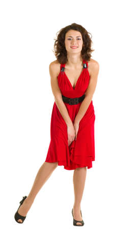 Sexy young woman in red dress Stock Photo - 11778503