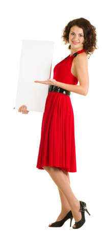 Sexy young woman in red dress Stock Photo - 11778504