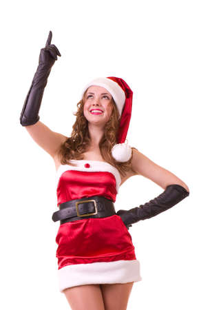 Beautiful young girl in Santa Claus clothes Stock Photo - 11778486