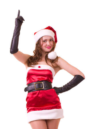 Beautiful young girl in Santa Claus clothes Stock Photo - 11778483