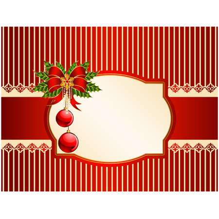 Beautiful Christmas background with ornament Vector