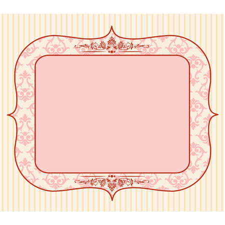 pink ribbon: Beautiful vintage background with ornament.