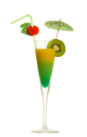 Stock image of Tequila Sunrise cocktail over white background 版權商用圖片