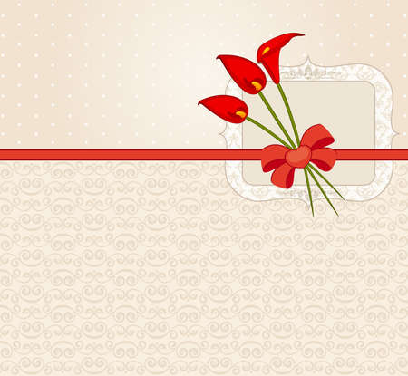 Vintage Flowers with lace ornaments on background   photo