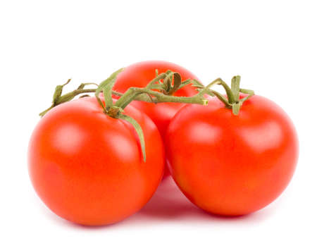 Beautiful red cherry tomatoes isolated on white background Stock Photo - 12560820