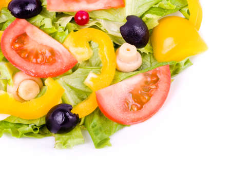A healthy meal - salad with green salad and vegetable Stock Photo - 12560811