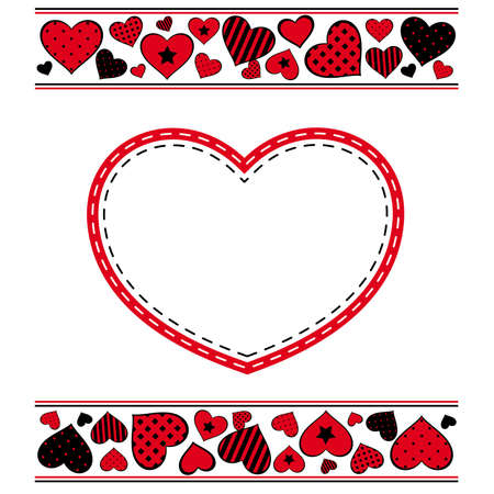 Valentine s day background with hearts    Ilustração