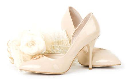 ornamentations: Gli accessori da sposa bellissimi e scarpe Archivio Fotografico