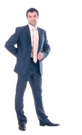 Young business man on white background Stock Photo - 13156525