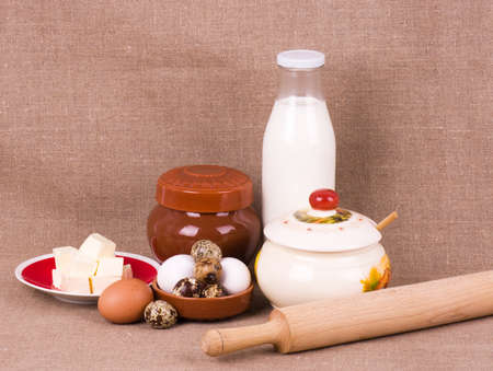 Tasty ingredients for baking on background Stock Photo - 13173433
