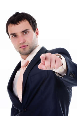 Portrait of a anger business man on white background Stock Photo - 13156648