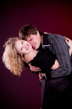 Portrait of happy young couple Stock Photo - 13259199