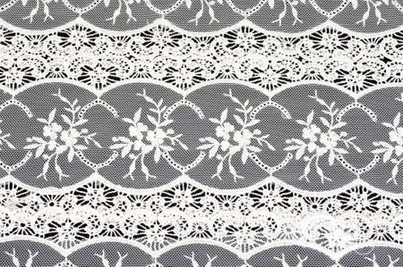 Vintage lace with flowers on black background Stock Photo - 13236163