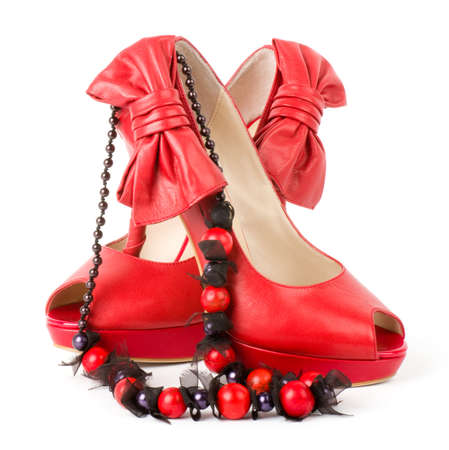 Sexy fashionable shoes with beads Stock Photo - 13236143
