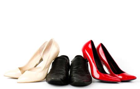 Sexy fashionable shoes on white background Stock Photo - 13572293