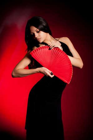 黒のドレスでカルメン フラメンコ美人 写真素材 - 13594048