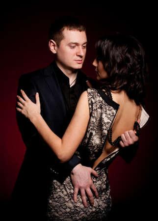 Fashion beautiful photo of man and woman photo