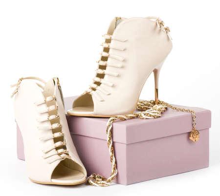 elegance: Sexy fashionable shoes isolated on white background