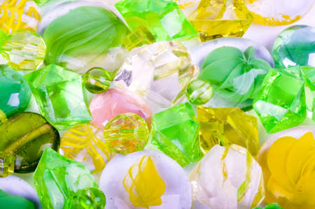 Beautiful bright colorful stones on a white