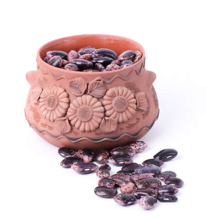 Color kidney beans in a bowl isolated on a white background Stock Photo - 13586372