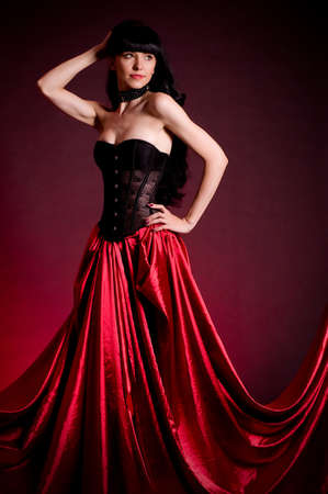 Flamenco Carmen beautiful woman in dress photo