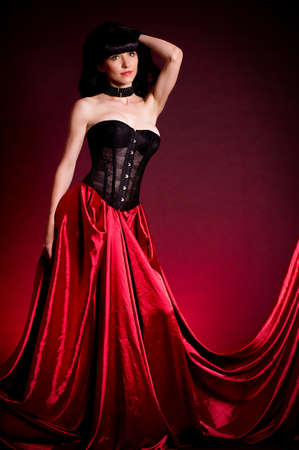Flamenco Carmen beautiful woman in dress photo