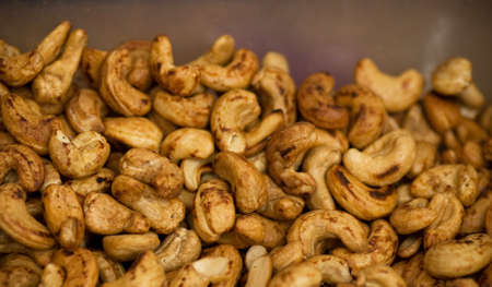whole pecans: Background of nuts Stock Photo