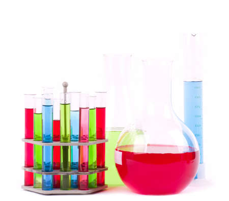 reagent: Glass laboratory equipment for science research