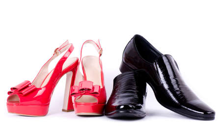 Sexy fashionable man s and womanish shoes Stock Photo - 14665623