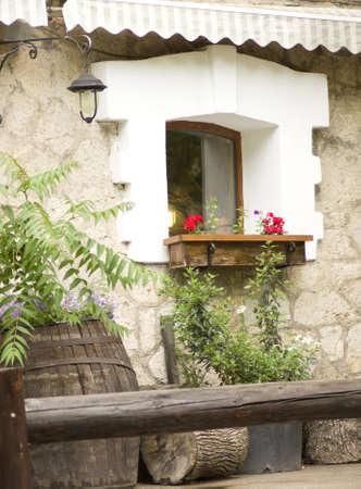 Old window in a little village