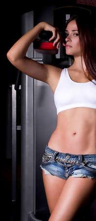 Femme sexy sur club de gym sportive Banque d'images - 15200914