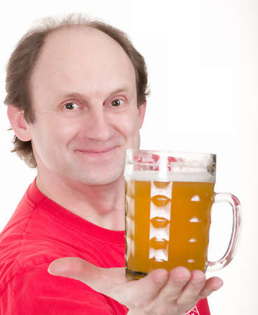 potbelly: Elderly man holding a beer belly