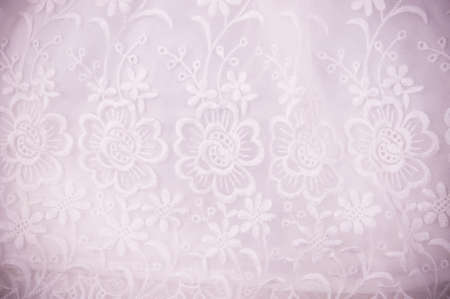 Vintage lace with flower on background