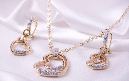 fashion jewelry: Beautiful jewelry on background